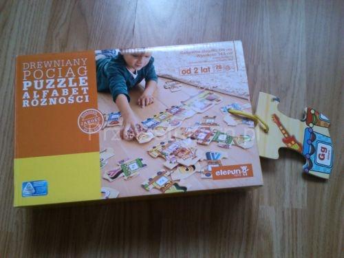 Puzzle Drewniany Pociąg Elefun