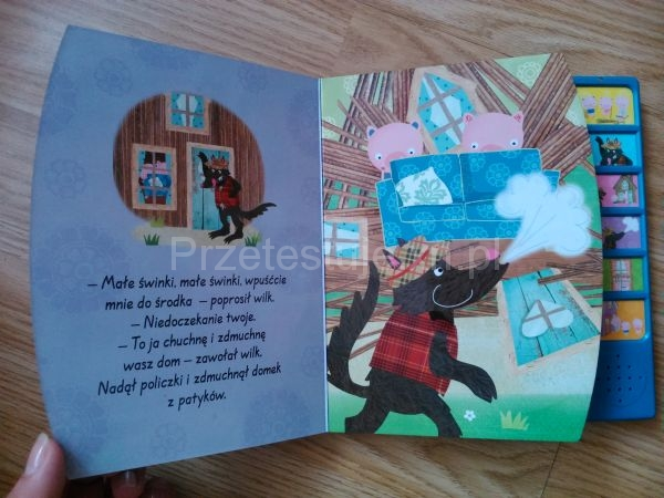 książeczka z lektorem Trzy małe świnki