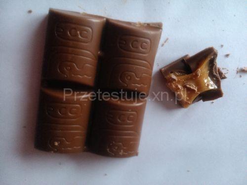 Test czekolad z Biedronki Orzechowo mleczno karmelowa