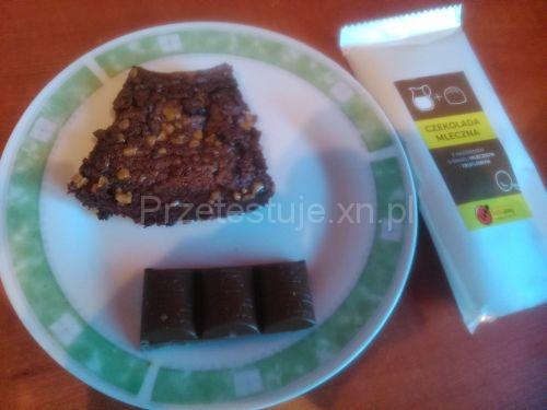 Test czekolad z Biedronki brownie z czekoladą truflową