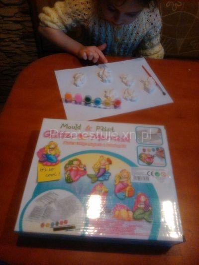 zestaw do robienia magnesów na lodówkę Glitter Mermaid