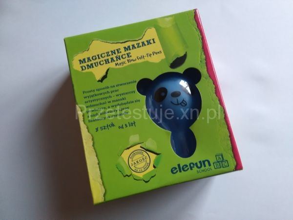 magiczne mazaki dmuchańce elefun