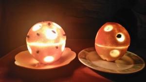 świeczniki z pomarańczy