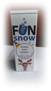 Fun Snow Ile śniegu zmieści się w bombce