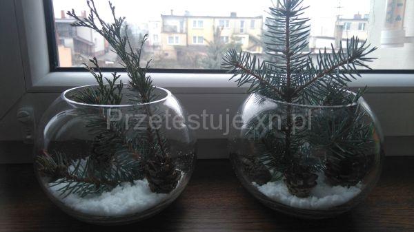 ozdoby ze śniegiem