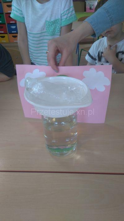 eksperyment z deszczem