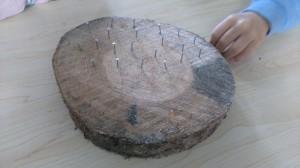 drewniane krążki