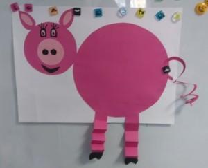 Świnka na tablicy