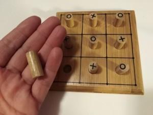 Drewniana gra kółko i krzyżyk elefun 2