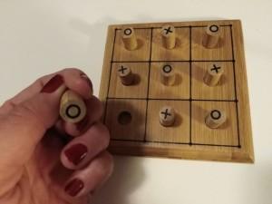 Drewniana gra kółko i krzyżyk elefun 3