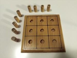 Drewniana gra kółko i krzyżyk elefun 4