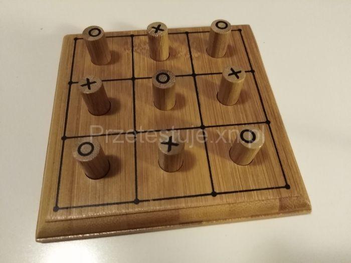 Drewniana gra kółko i krzyżyk elefun